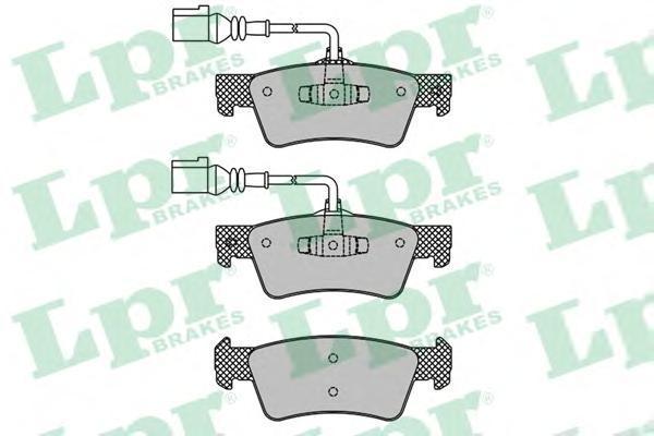 05P1667 LPR/AP Комплект тормозных колодок, дисковый тормоз