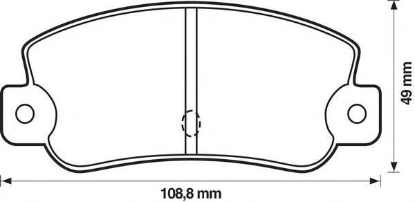 571474B BENDIX Комплект тормозных колодок, дисковый тормоз