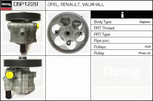 Гидравлический насос, рулевое управление DELCO REMY DSP1228