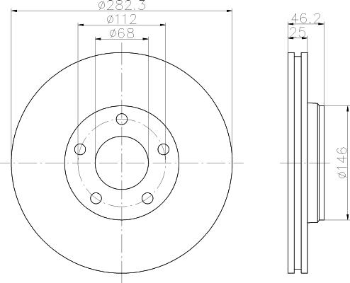 8DD355105551 HELLA Тормозной диск