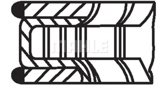 Комплект поршневых колец MAHLE 01210N0