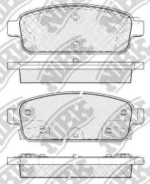 Комплект тормозных колодок NIBK PN0392