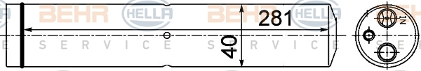 8FT351193541 BEHR-HELLA Осушитель, кондиционер
