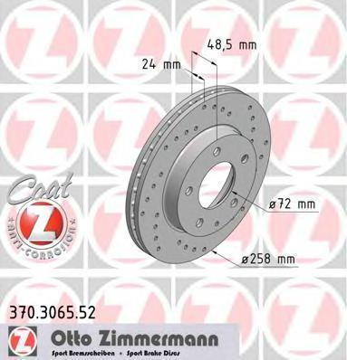 370306552 ZIMMERMANN Тормозной диск