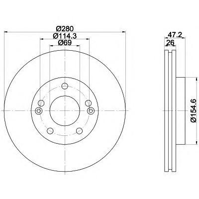 8DD355118151 HELLA Тормозной диск