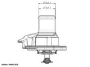 41093782D WAHLER Термостат, охлаждающая жидкость