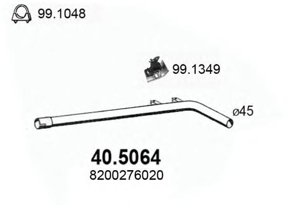 405064 ASSO Труба выхлопного газа