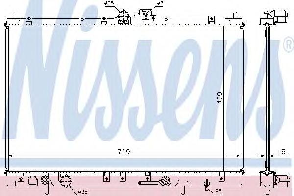 628031 NISSENS Радиатор, охлаждение двигателя