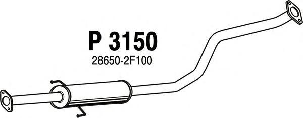 Средний глушитель выхлопных газов FENNO P3150