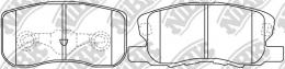 Колодки тормозные дисковые NIBK PN3500