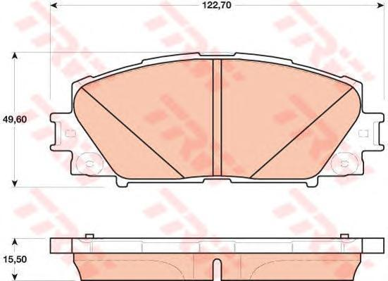GDB4173 TRW/LUCAS Комплект тормозных колодок, дисковый тормоз