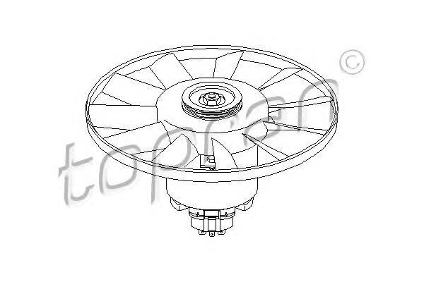 107715 HANS PRIES Вентилятор, охлаждение двигателя