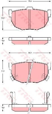 GDB3368 TRW/LUCAS Колодки тормозные дисковые, комплект