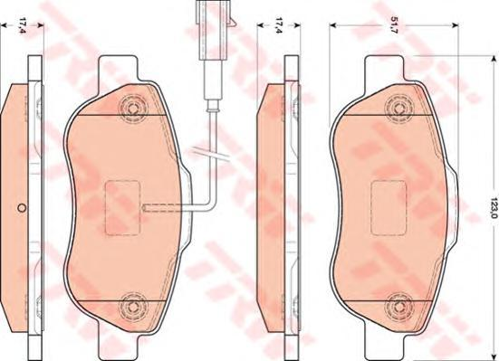 GDB1746 TRW Комплект тормозных колодок, дисковый тормоз