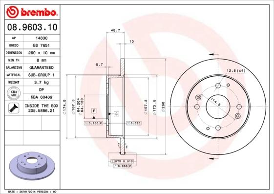 14830 LPR Тормозной диск