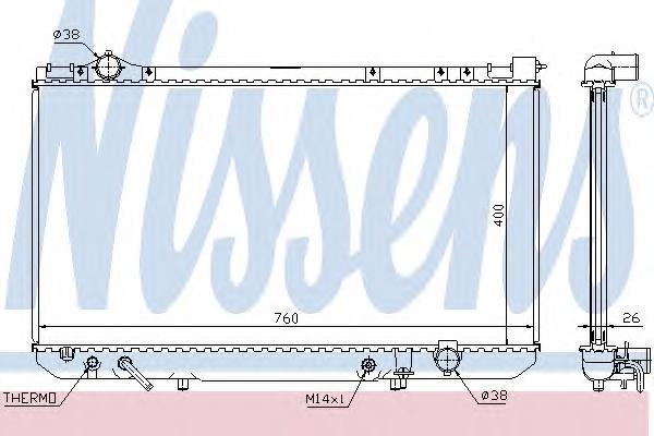 Радиатор, охлаждение двигателя NISSENS 64756