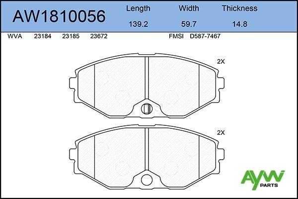 AW1810056 AYWIPARTS Колодки тормозные передние