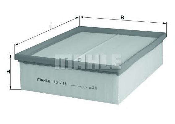 Воздушный фильтр MAHLE LX819
