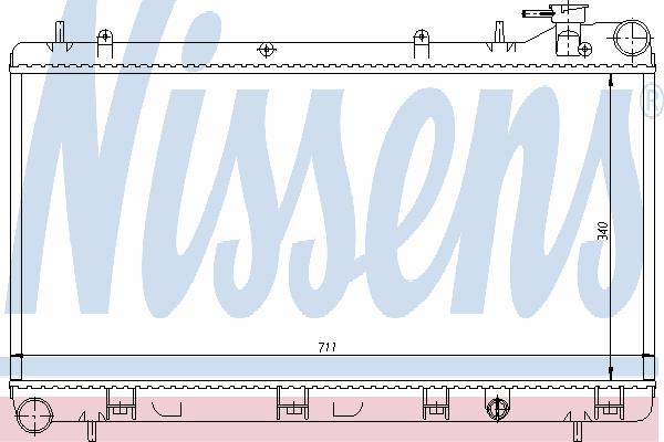 64185 NISSENS Радиатор, охлаждение двигателя
