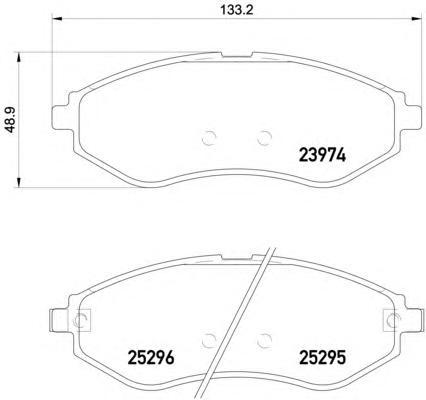Комплект тормозных колодок, дисковый тормоз TEXTAR 2397406
