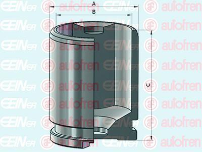D025541 SEINSA AUTOFREN Поршень тормозного суппорта задн.