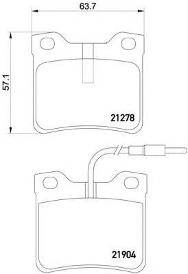 Комплект тормозных колодок, дисковый тормоз TEXTAR 2190403