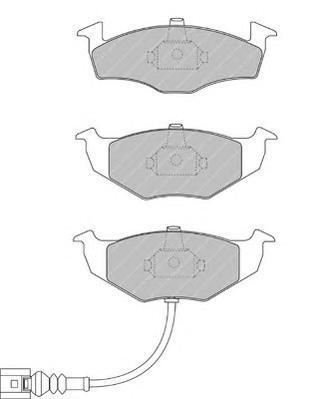 FDB1634 FERODO Комплект тормозных колодок, дисковый тормоз