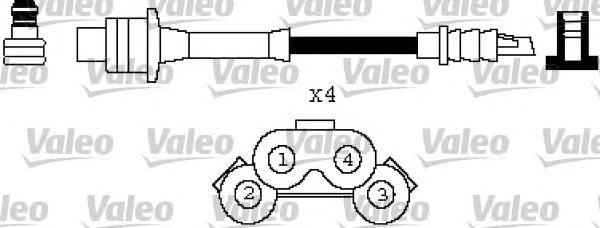 346429 VALEO Комплект проводов зажигания