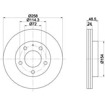 8DD355103221 BEHR-HELLA Тормозной диск