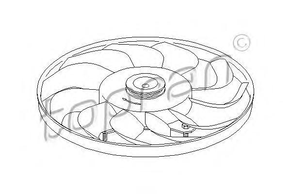 110961 TOPRAN Крыльчатка вентилятора, охлаждение двигателя