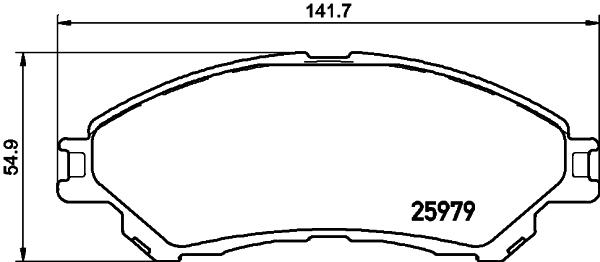 2597901 TEXTAR Комплект тормозных колодок, дисковый тормоз