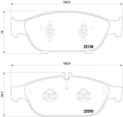 2515803 TEXTAR Комплект тормозных колодок