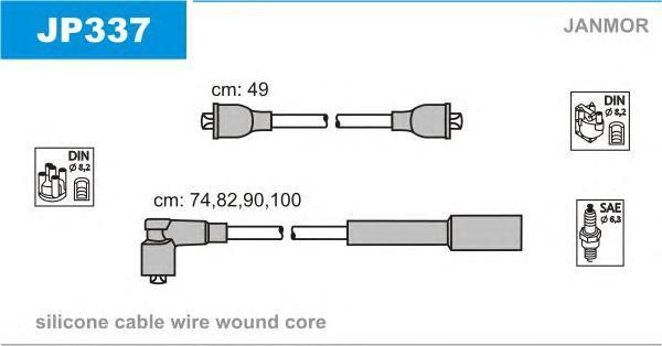 JP337 JANMOR Комплект проводов зажигания