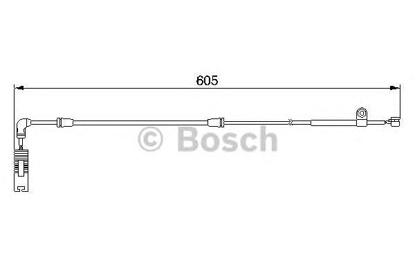 Сигнализатор, износ тормозных колодок BOSCH 1987474943