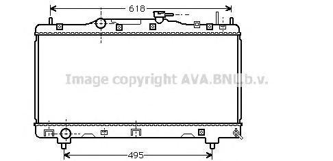 Радиатор, охлаждение двигателя AVA TO2256