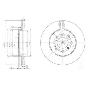 BG4148 DELPHI Тормозной диск