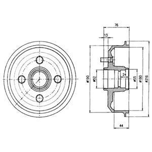 BF229 DELPHI Тормозной барабан