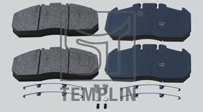 Комплект тормозных колодок, дисковый тормоз TEMPLIN 031208700180