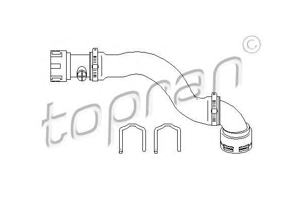 501566 TOPRAN Шланг радиатора