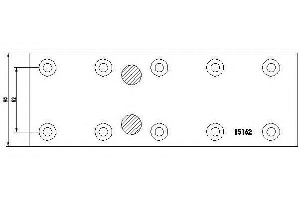 1516203 TEXTAR Комплект тормозных башмаков, барабанные тормоза