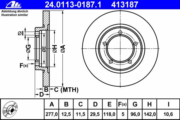 24011301871 ATE Тормозной диск