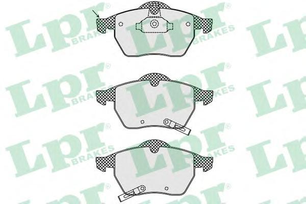 05P689 LPR Комплект тормозных колодок, дисковый тормоз