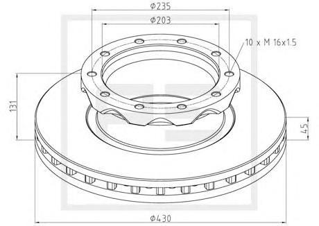 Тормозной диск PE AUTOMOTIVE 46610200A