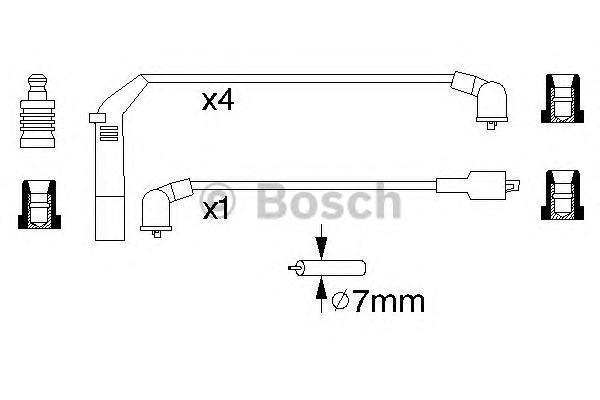 0986356895 BOSCH Комплект проводов зажигания