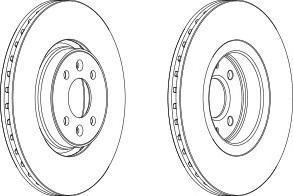 DDF15131 FERODO Тормозной диск
