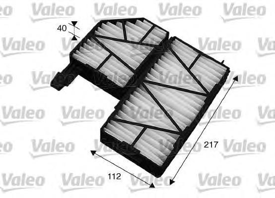 715563 VALEO Фильтр, воздух во внутренном пространстве