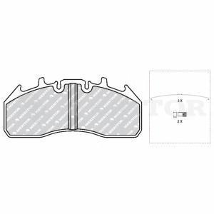 Комплект тормозных колодок, дисковый тормоз MERITOR MDP3174K