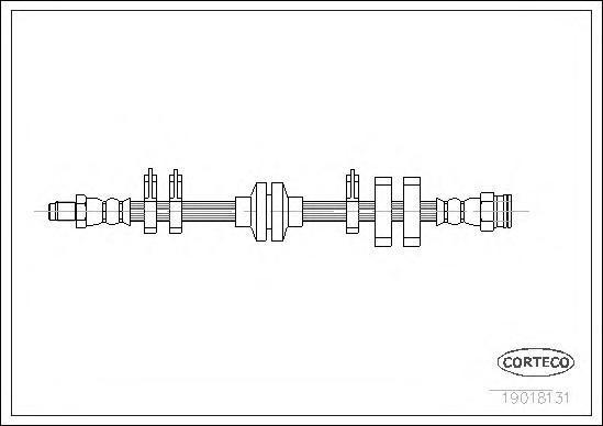 19018131 CORTECO Тормозной шланг