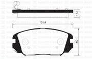 SP1182 SANGSIN BRAKE Колодки тормозные передние SP1182