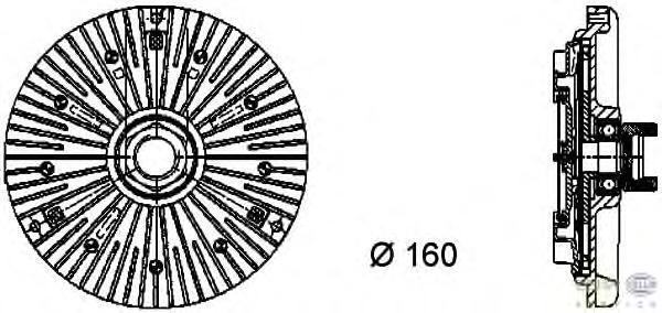 8MV376733001 HELLA Сцепление, вентилятор радиатора